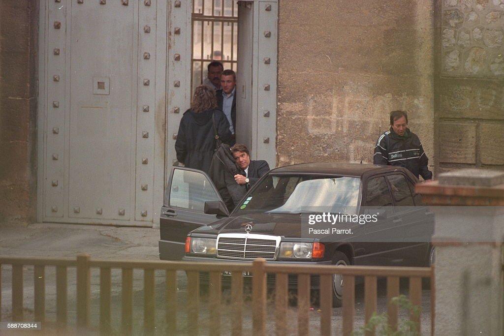 Bernard Tapie at les Baumettes Prison : Foto di attualità