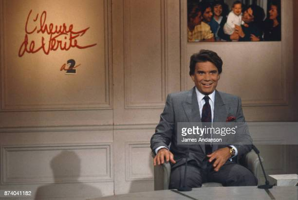 Bernard Tapie on the political show L'heure de Vérité 12th June 1990 Paris