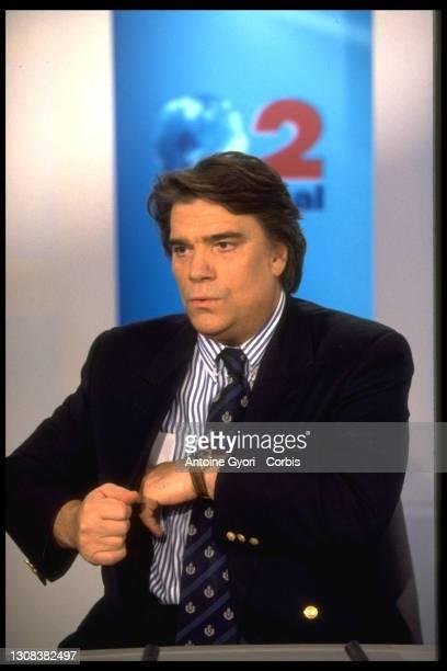 Bernard Tapie sur le plateau du journal.