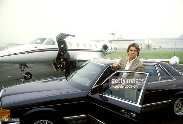 Bernard Tapie with his Mercedes jet in France on October 13 1984