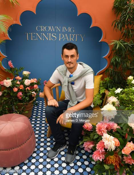 Bernard Tomic attends the Crown IMG Tennis Party on January 19 2020 in Melbourne Australia