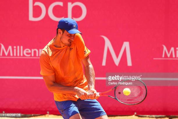 Bernard Tomic from Australia in action during the match of Round 1 between Bernard Tomic from Australia and John Millman from Australia during...