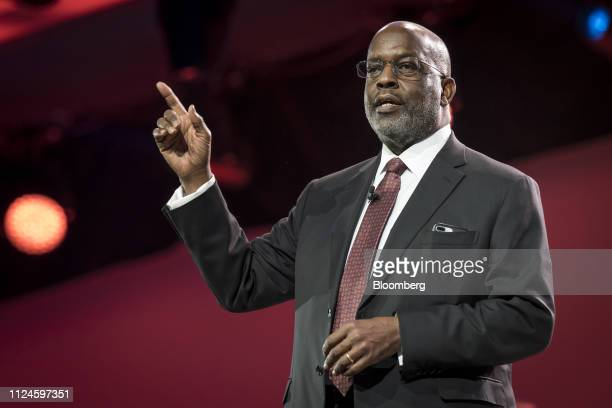 Bernard Tyson chairman and chief executive officer of Kaiser Foundation Hospitals Inc speaks during the International Business Machines Corp Think...
