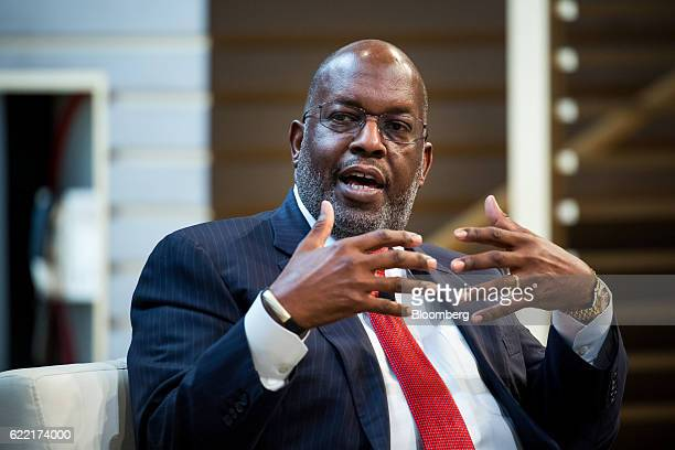 Bernard Tyson chairman and chief executive officer of Kaiser Permanente Inc speaks during the New York Times DealBook conference in New York US on...