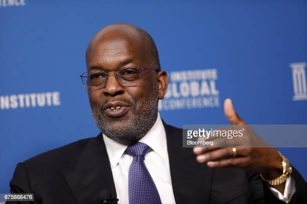 Bernard Tyson chairman and chief executive officer of Kaiser Permanente Inc speaks during the Milken Institute Global Conference in Beverly Hills...