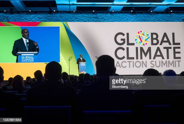 Bernard Tyson chairman and chief executive officer of Kaiser Permanente speaks during the Global Climate Action Summit in San Francisco California US...