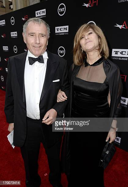 Bernard Weinraub and Cochair of Sony Pictures Entertainment Inc and Chairman of SPE's Columbia TriStar Motion Picture Group Amy Pascal attend the...