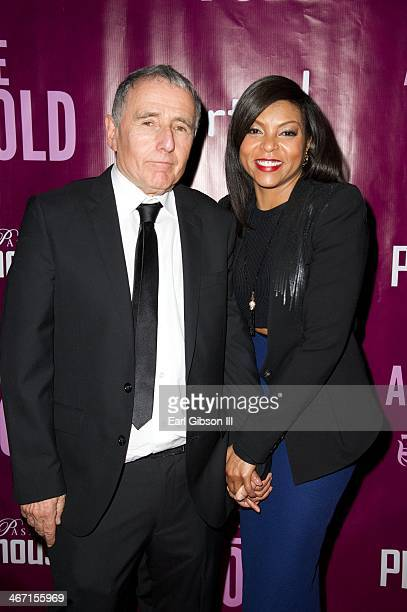 Bernard Weinraub and Taraji P. Henson attend the after party for the opening night of 'Above the Fold' at Pasadena Playhouse on February 5, 2014 in...