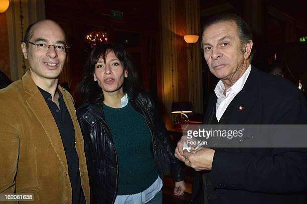 Bernard Werber, Julie Debazac and Rolland Giraulti attend the '18 eme Edition des Journees du Livre et Du Vin 2013' - Jury Lunch at the Hotel Lutetia...
