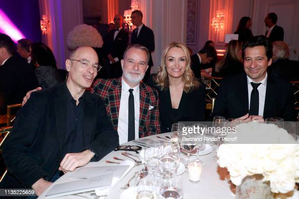 "March 11: Bernard Werber, Thierry Billard , Christelle Bardet and Laurent Gerra attend the ""Stethos d'Or 2019"" Charity Gala of the Foundation for..."