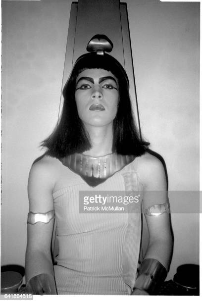 Bernard Zette as Cleopatra at the Details magazine party at Area Early November 1984