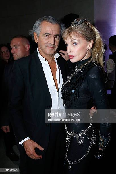 BernardHenri Levy and Arielle Dombasle pose after Arielle Dombasle performed for the release of the Album 'La Riviere Atlantique' 'Noche de los...