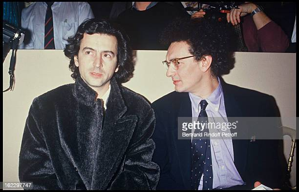 BernardHenri Levy and GeorgesMarc Benamou at a 1988 Fashion Show