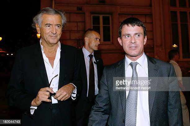 BernardHenri Levy and Minister of the Interior Manuel Valls attend 'Opium' movie Premiere held at Cinema Saint Germain in Paris on September 27 2013...
