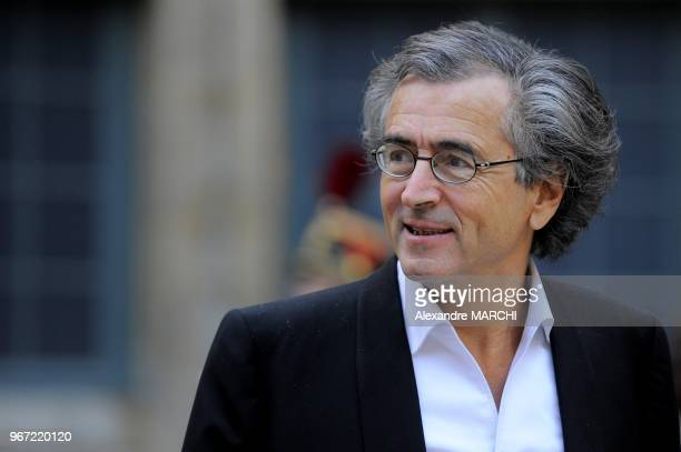 BernardHenri Levy attend a ceremony to present French Philosopher JeanLuc Marion with his seat in the French Academy