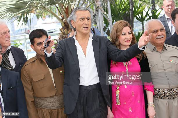 BernardHenri Levy attends the 'Peshmerga' photocall during the 69th annual Cannes Film Festival on May 20 2016 in Cannes France