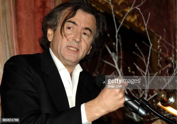 BernardHenri Levy delivers remarks on his new book 'American Vertigo Traveling America in the Footsteps of Tocqueville' at the French Consulate in...