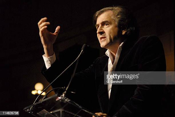 BernardHenri Levy during The French Institute Alliance Française Honors Charlie Rose and Bertrand Collomb at Trophee Des Arts Gala at Gotham Hall in...