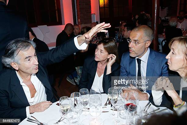 BernardHenri Levy Nathalie BlochLaine Kamel Mennour and Patricia Marshall attend Peshmerga Private Screening at Galerie Azzedine Alaia on July 4 2016...