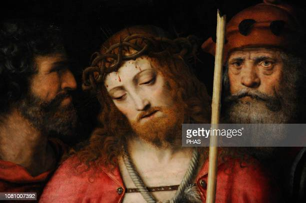 Bernardino Luini Italian painter Ecce Homo ca15151516 Detail WallrafRichartz Museum Cologne Germany