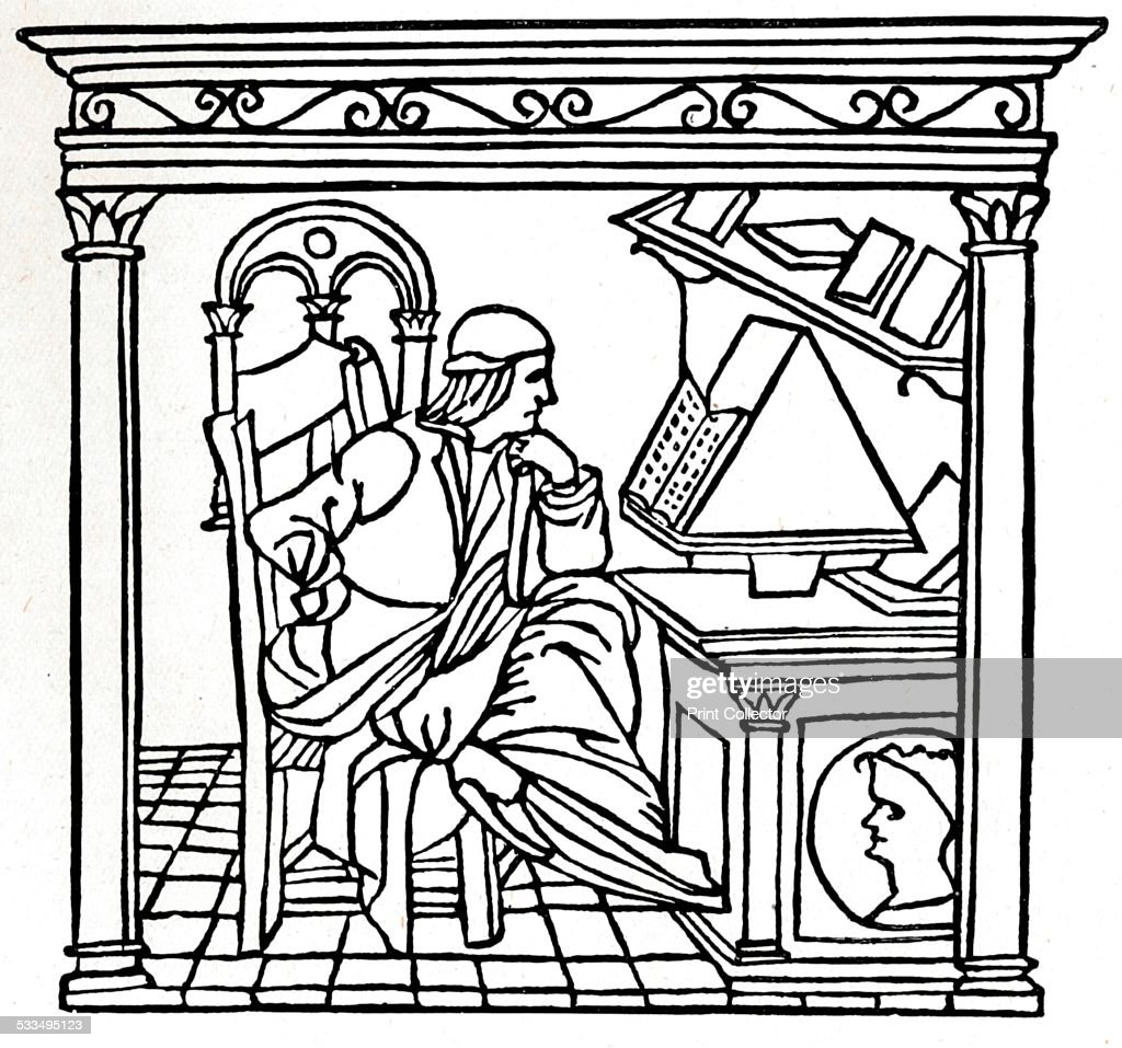 Bernardo Bellincioni (1452-1492), Italian poet, 1493. Bernardo Bellincioni (1452-1492) was an Italian poet, who began his career in the court of Lorenzo the Magnificent in Florence. From The Connoisseur Vol XLVIII [Otto Limited, London, 1917.]