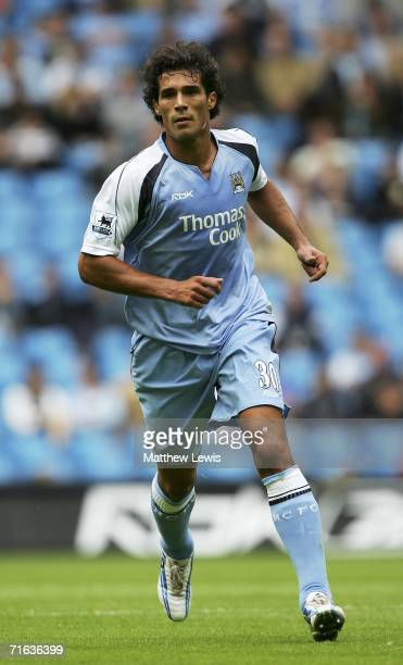Bernardo Corradi of Manchester City in action during the PreSeason Friendly match between Manchester City and FC Porto at the City of Manchester...