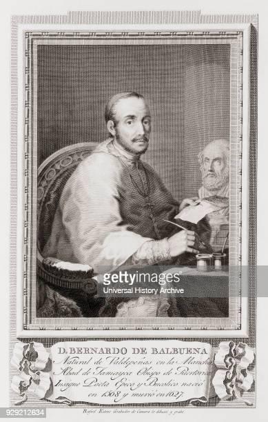 Bernardo de Balbuena 1561 – 1627 Spanish poet After an etching in Retratos de Los Españoles Ilustres published Madrid 1791
