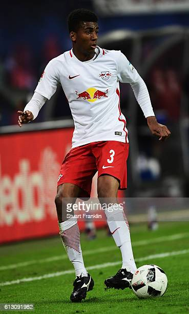 Bernardo Fernandes da Silva of Leipzig in action during the Bundesliga match between RB Leipzig and FC Augsburg at Red Bull Arena on September 30...