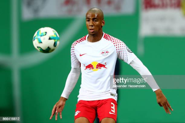 Bernardo Fernandes da Silva of Leipzig runs with the ball during the DFB Cup round 2 match between RB Leipzig and Bayern Muenchen at Red Bull Arena...