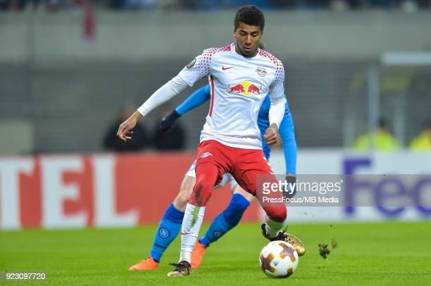 Bernardo of RB Leipzig during UEFA Europa League Round of 32 match between RB Leipzig and Napoli at the Red Bull Arena on February 22 2018 in Leipzig...