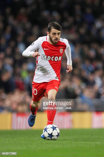 Bernardo Silva of AS Monaco during the UEFA Champions League Round of 16 first leg match between Manchester City FC and AS Monaco at Etihad Stadium...