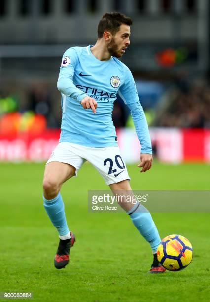Bernardo Silva of Mancherster City during the Premier League match between Crystal Palace and Manchester City at Selhurst Park on December 31 2017 in...