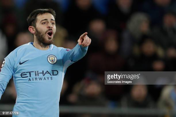 Bernardo Silva of Manchester City celebrates 02 during the UEFA Champions League match between Fc Basel v Manchester City at the St JakobPark on...