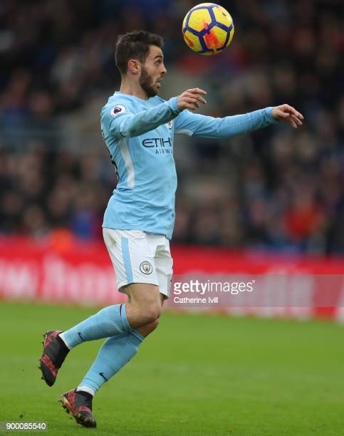 Bernardo Silva of Manchester City during the Premier League match between Crystal Palace and Manchester City at Selhurst Park on December 31 2017 in...