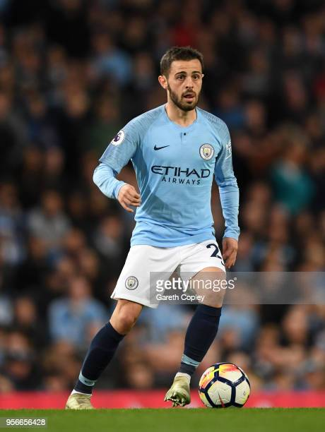 Bernardo Silva of Manchester City during the Premier League match between Manchester City and Brighton and Hove Albion at Etihad Stadium on May 9,...