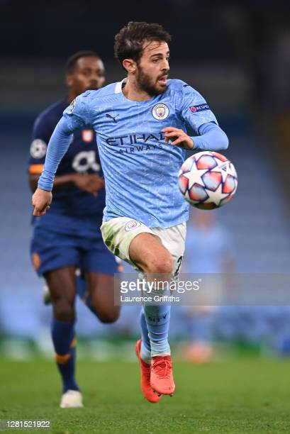 Bernardo Silva of Manchester City during the UEFA Champions League Group C stage match between Manchester City and FC Porto at Etihad Stadium on...