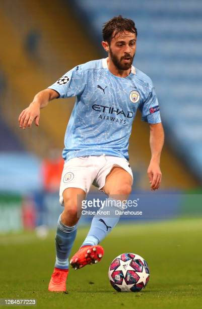 Bernardo Silva of Manchester City during the UEFA Champions League round of 16 second leg match between Manchester City and Real Madrid at Etihad...