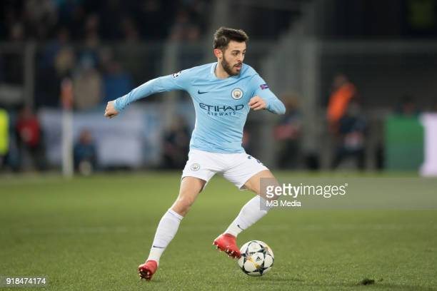 Bernardo Silva of Manchester City during the UEFA Champions League match between Fc Basel v Manchester City at the St JakobPark on February 13 2018...