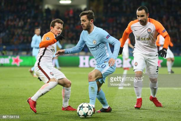 Bernardo Silva of Manchester City in naction during the UEFA Champions League group F match between Shakhtar Donetsk and Manchester City at Metalist...