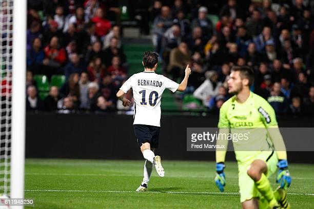 Bernardo Silva of Monaco celebrate his goal during the Ligue 1 match between FC Metz and AS Monaco at Stade SaintSymphorien on October 1 2016 in Metz...