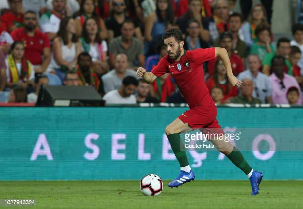 Bernardo Silva of Portugal and Manchester City in action during the International Friendly match between Portugal and Croatia at Estadio Algarve on...