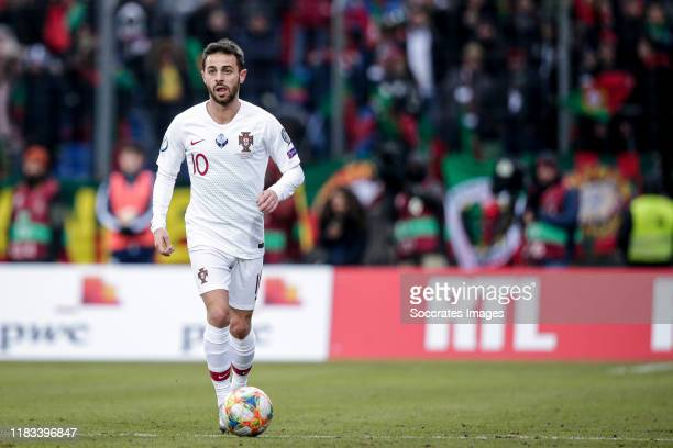 Bernardo Silva of Portugal during the EURO Qualifier match between Luxembourg v Portugal on November 17, 2019