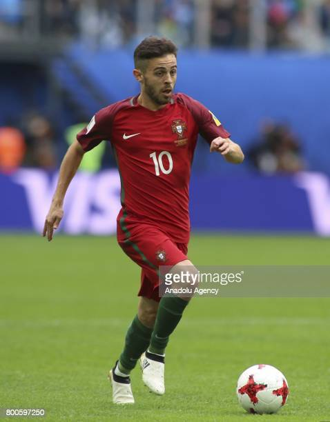 Bernardo Silva of Portugal in action during the Confederations Cup 2017 match between New Zealand and Portugal at Krestovsky Stadium in St Petersburg...
