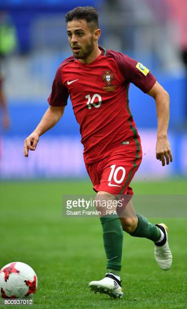 Bernardo Silva of Portugal in action during the FIFA Confederation Cup Group A match between New Zealand and Portugal at Saint Petersburg Stadium on...
