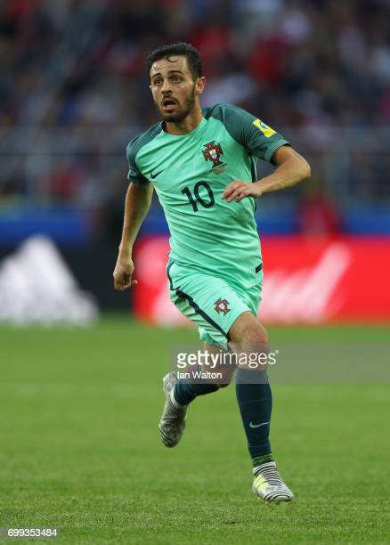 Bernardo Silva of Portugal in action during the FIFA Confederations Cup Russia 2017 Group A match between Russia and Portugal at Spartak Stadium on...