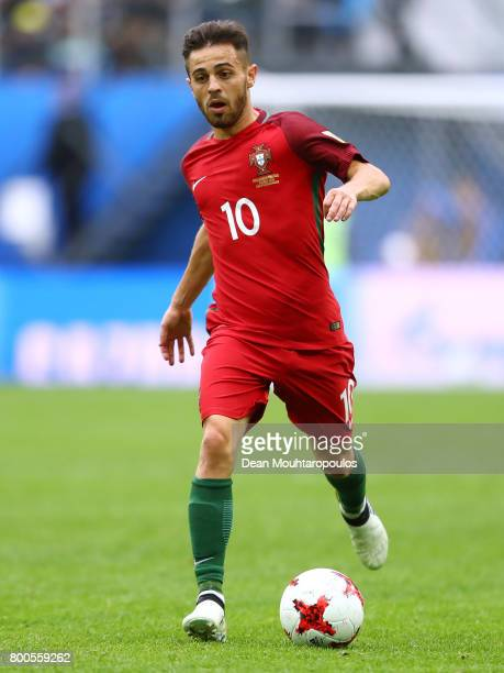 Bernardo Silva of Portugal in action during the FIFA Confederations Cup Russia 2017 Group A match between New Zealand and Portugal at Saint...