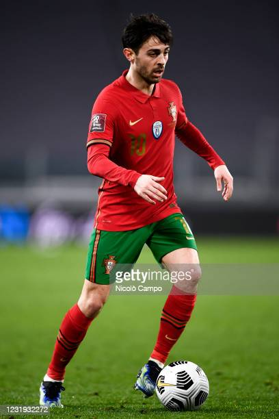 Bernardo Silva of Portugal in action during the FIFA World Cup 2022 Qatar qualifying football match between Portugal and Azerbaijan. Portugal face...
