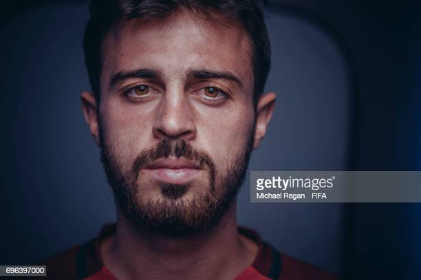 Bernardo Silva poses for a picture during the Portugal team portrait session on June 15, 2017 in Kazan, Russia.
