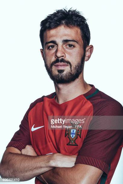 Bernardo Silva poses for a picture during the Portugal team portrait session on June 15 2017 in Kazan Russia