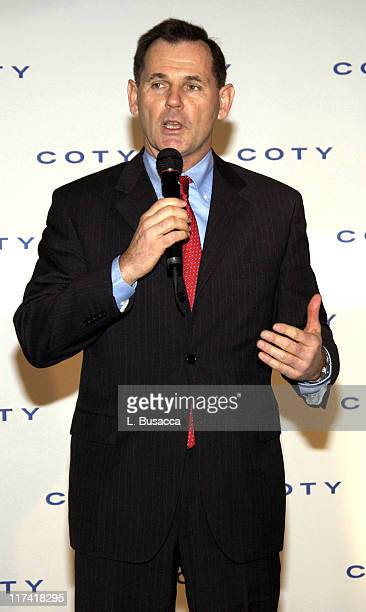 Bernd Beetz CEO Coty Inc during Sarah Jessica Parker Announces New Fragrance Brand with Coty Inc at Carlyle Hotel in New York City New York United...